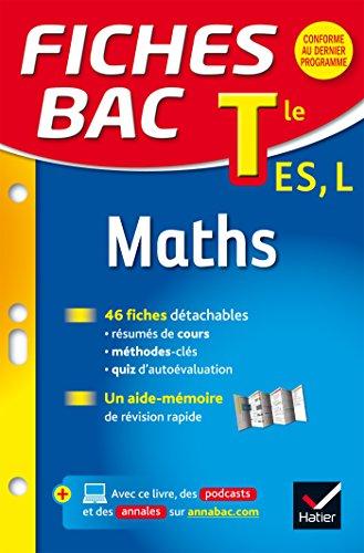 Fiches bac Maths Tle ES, L: fiches de révision - Terminale ES, L