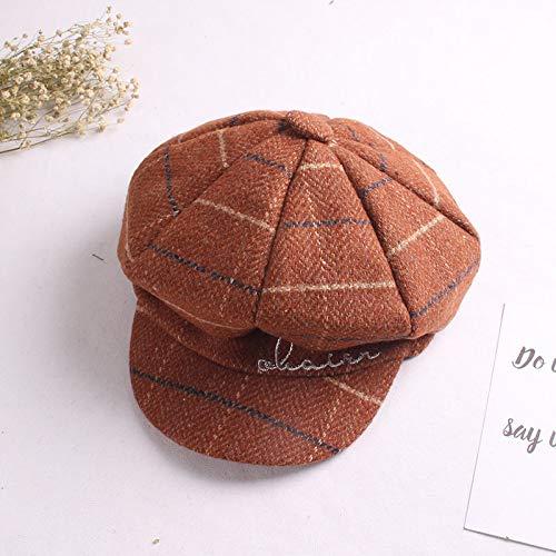 mlpnko Persönlichkeit Mütze Maler Hut Farblich passende Kinder Achteck Hut Kürbis Hut Mode Hut Karamell 52cm