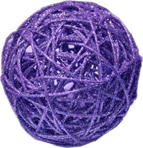 Chaks 0612-88, Sachet 1 Boule rotin Paillettes 12cm, Violet