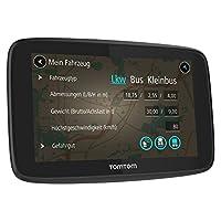 TomTom GO Professional navigasyon cihazı (15,24cm) 6inç, ömür boyu kart (Avrupa), 1yıl Traffic ve hedefiniz için, serbest konuşma, Click & Go-tutacak Siyah (15,24 cm) 6 Zoll Siyah 1PL6.002.09