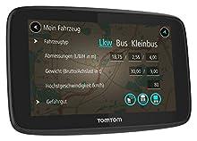 """TomTom Go Professional 6200 Navigatore Professionale per Veicoli di Grandi Dimensioni, Connessione Tramite SIM 1 Anno, 6"""", Nero"""