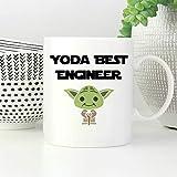 Yoda Tasse à café humoristique avec inscription « Best Engineer »
