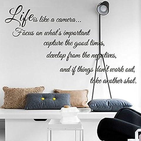 Etiqueta de la pared de pegatinas tallados que personalizada vida es como una decoración de casa de habitación de cámara ,