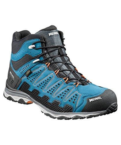 Meindl Chaussures x-So 70Mid GTX Surround Men–Bleu/Orange 46 2/3