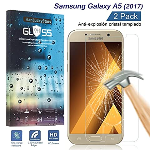 [2 Pièces] Verre Trempé Galaxy A5 2017, HD Clair Ultra