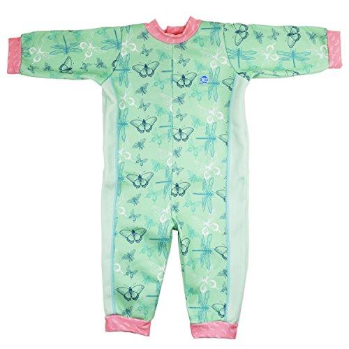(Splash About Mädchen Ganzkörper-schwimmanzug, grün(Libelle), 6-12 Monate, WIODFL)