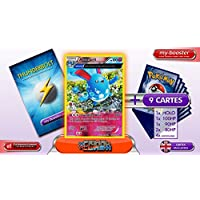 AZUMARILL reverse holo Alf Art 104/160 100HP XY05 PRIMAL CLASH - Optimized THUNDERBOLT booster cards - 10 English Pokemon trading cards