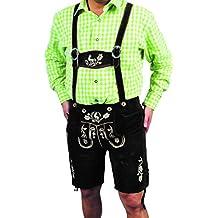De piel traje típico de piel de terciopelo alta calidad Pantalón Corto Para Hombre, Mujer