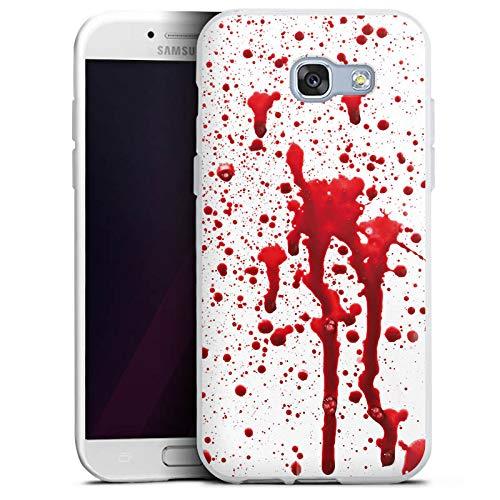 ülle kompatibel mit Samsung Galaxy A5 Duos 2017 Case Schutzhülle Blut Blood Halloween ()