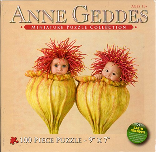 Anne Geddes Miniature Puzzle Collection 100 Pc 7 X 9 Puzzle - 2 Babies in Flower Blossoms by Anne - Flower Geddes Anne