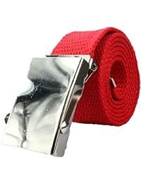 Cinturón de tela de alta calidad de 4 cm de ancho rayas unido y bicolor