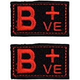 ROPHIL Biker Patches Embroidered Sew On (4.5 cm x 3 cm x 2 cm, Black & Red, Set of 2, RPEP37)
