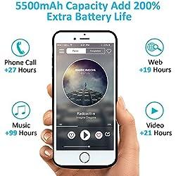 Bovon 5500mAh Coque Batterie iPhone 6/6S/7/8, Chargeur Portable Batterie Externe Rechargeable Puissante Power Bank Coque Chargeur de Protection pour iPhone 6/6S/7/8 [4.7 Pouces] (Noir)
