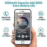 Bovon Funda Bateria iPhone 6/6S/7/8, 5500mAh Bateria Externa Recargable Power Bank, Cargador Portatil Protector Estuche de Carga para iPhone 6/6S/7/8 (4.7') - Negro