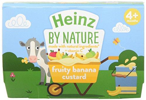 Heinz Banana Custard Dessert Pot, 4 x 100 g (Pack of 3)