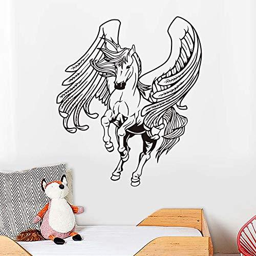 Pentium Ziemlich Robustes Pferd mit Flügel Wandaufkleber Kunst Vinyls für Wand Dekorative Abziehbilder Home Schlafzimmer Wohnzimmer sofa Tapete 58 cm X 68 cm -