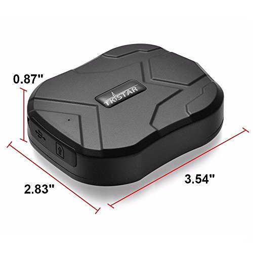 TKSTAR GPS-Tracker für Auto/Fahrzeuge/Gratuit-Magnete, leistungsstarker Magnet und 5000mAh Akku TK905