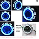 PR Projector Lamp (White and Blue) High Beam, Low Beam, Flasher Light, White Light Led headlight Lens projector with Angle eye For TVS Apache RTR 160 Fr Rear Disc 1 Pcs