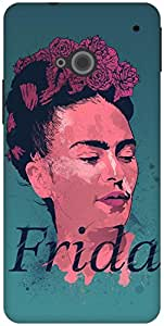 The Racoon Grip Frida Kahlo - History of Art hard plastic printed back case / cover for HTC One (M7)
