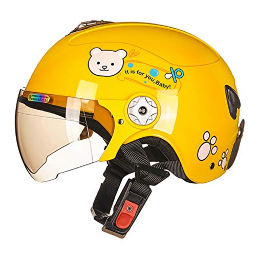 Gdsad casco moto da bambino casco sportivo da bambino semi-coperto casco da esterno bimbo-bambino four seasons / (color : yellow bear, size : s)