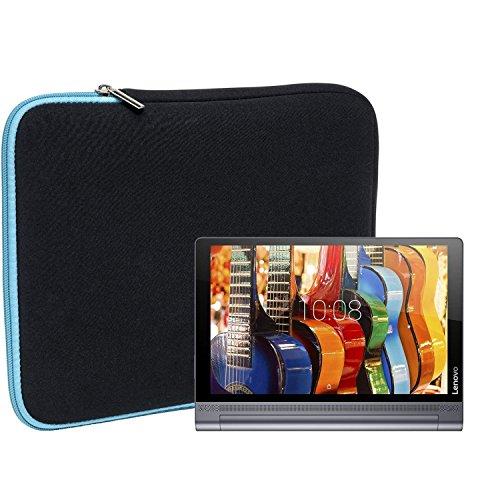 Slabo Tablet Tasche Schutzhülle für Lenovo Yoga Tab 3 Pro (10 Zoll) Hülle Etui Case Phablet aus Neopren – TÜRKIS/SCHWARZ