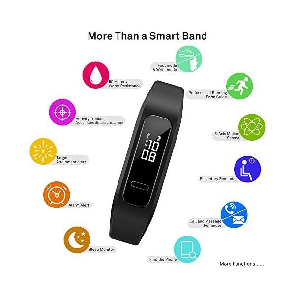 HUAWEI Band - Pulsera de Actividad con Pantalla, monitorización Continua TruSeen TM 3.5 24/7, TruSleep 2.0, monitoreo del sueño, GPS, Resistencia al Agua 5ATM 6