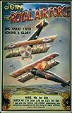 Blechschild Nostalgieschild Royal Air Force Doppeldecker Flugzeuge retro Schild