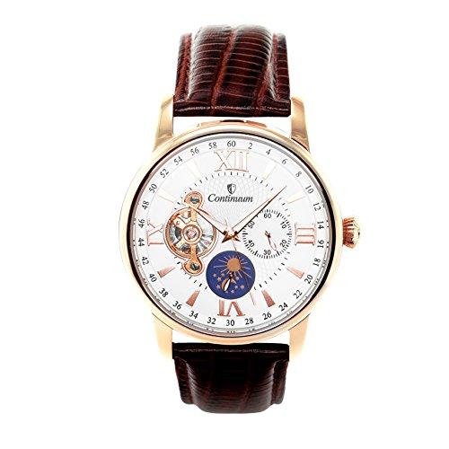 Continuum Herren-Armbanduhr Automatik Analog Leder Braun - C15H16