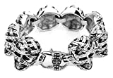 Best Baby Gifts For All Friend Bibles - SaySure- 29.5MM Wide Skeleton Skull Bracelets Punk Style Review