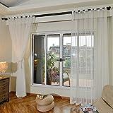 Voile vorhang,Weiße gaze-vorhang,Balkonfenster,Für Wohnzimmer Schlafzimmer Stock-bildschirm Bay-fenster Garn vorhang,Vorhang,Wand vorhang,Fertige vorhang,Satz 1 paneele.200x270cm(79x106inch) -C