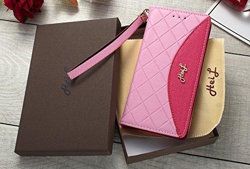 Heil S8Classic (Schnell Uns Liefern Garantie Erfüllt von Amazon) Neuen Eleganten Luxus PU Leder Wallet Style Flip Cover Fall für Samsung Galaxy S8S 8Nur, Pink Rose Classic