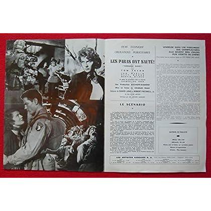 Dossier de presse de Les Paras ont sauté (Screaming Eagles) (1956) – 32x48cm - Film de Charles Haas avec Tom Tryon, Jan Merlin – Photos N&B + résumé scénario – Bon état.