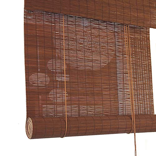 Hängen Roman Blind (Seitenzug- & Springrollos Bambusvorhang Holz Bambus Blackout Roman Shades, Kastanie Roll Up Blind Sun Shade 60% Beschattungsrate for Indoor Patio Door Jalousie (Size : 120x80cm))