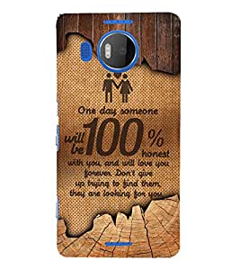 Honest Love 3D Hard Polycarbonate Designer Back Case Cover for Nokia Lumia 950 XL :: Microsoft Lumia 950 XL