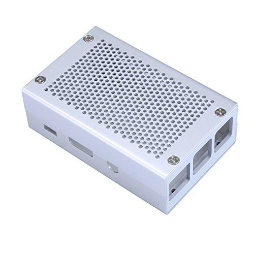 Aluminium Case für Raspberry Pi 3Silber Fall kompatibel mit Raspberry Pi 2Modell B auch