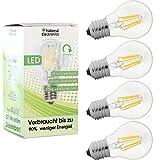 4x National Electronics® Filament Dimmbar | E27 6W 660 Lumen LED | Leuchtmittel AC 230V 270° warmweiß