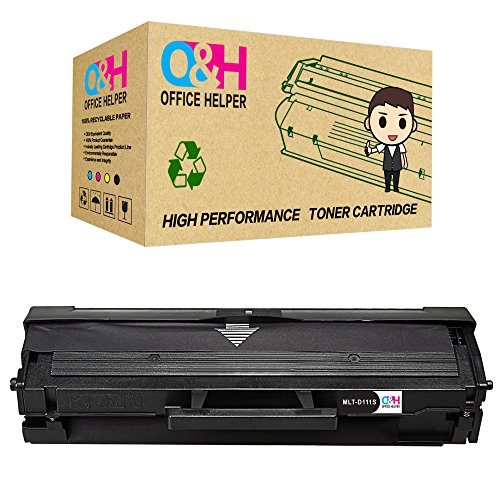 OFFICE HELPER Compatible Toner Cartridge Replacement for Samsung MLT-D111S for use in Samsung Xpress SL-M2070 SL-M2070W SL-M2070FW SL-M2020W SL-M2020 SL-M2022 SL-M2022W SL-M2078W SL-M2026 SL-M2026W (1Pack)-Noir