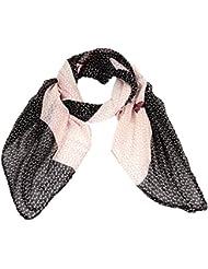 Accessoire pour Femmes Calonice Amorino Écharpe motif équestre écharpe de célébrité transparente avec motifcheval Rose foncé Taille unique 180x0.1x110 cm (LxHxW) 30403