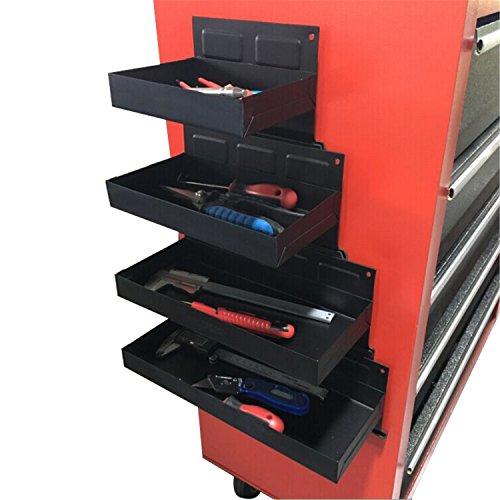 4 tlg Metall Magnet Ablagen Werkzeug Halter Werkzeugwagen Wände 150-210-270-310mm KFZ