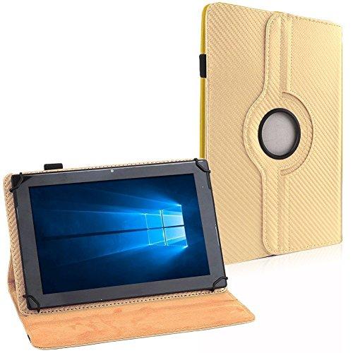 Tablet Tasche Hülle für ASUS ZenPad 8.0 Z380M Schutzhülle Cover 360° Drehbar, Farben:Gold