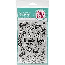 Avery Elle Clear Stamp Set 4-inch X 6-inch-floral Frame