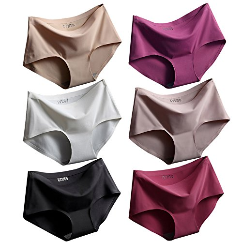 Srizgo Panty Damen 6er Pack soft angenehm nahlos seamless bequem mit Doppelkante Unterhose Silps Damen(Tag M=EU S)