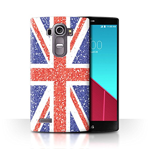Stuff4® Hülle/Case für LG G4 Beat/H735 / Union Jack Flagge/Briten Muster/Glitter Muster Effekt Kollektion (Glitter Skins Beats)