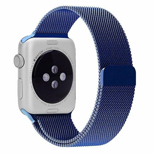 Apple Watch Correa Pinhen serie 1 2 Cerradura Imán Único Correa de Acero Inoxidable Reemplazo de Banda de la Muñeca para Apple Watch Todos los Modelos No Hebilla Needed