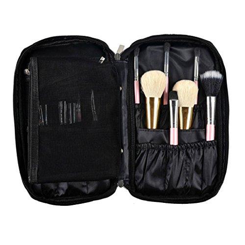 Kangrunmy Trucco Pocket Brush Cosmetic Bag Strumento Pennello (Nero)