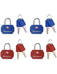 Master Lock 4681EURTBLR 2 Cadenas TSA a clé 30 mm