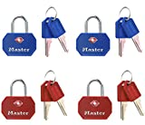 Master Lock 4681EURTBLR TSA Padlocks Key-Operated 30 mm Set of 2