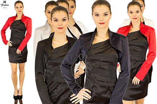 Satin Bolero a maniche lunghe–fino a 3X L–Nuovo con etichetta–Nero–principale colori Rot