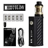 VOVCIG Cigarette Electronique Kit Complet,80W TC 2300mAh Box Mod Batterie Cigarette électronique + [5 pièces] Top Fill Atomiseur...