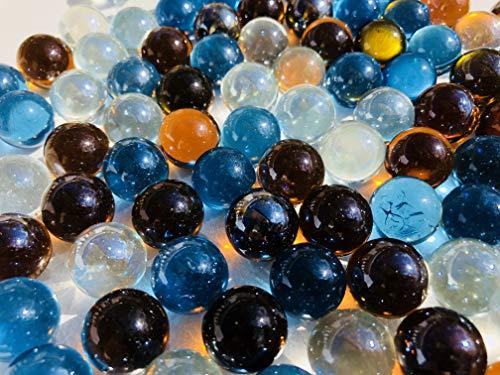 CRYSTAL KING Bunte Glasmurmeln Glaskugeln16mm Durchmesser über 1kg Dekokugeln Murmel Dekoration Glaskügelchen Murmeln Bunt